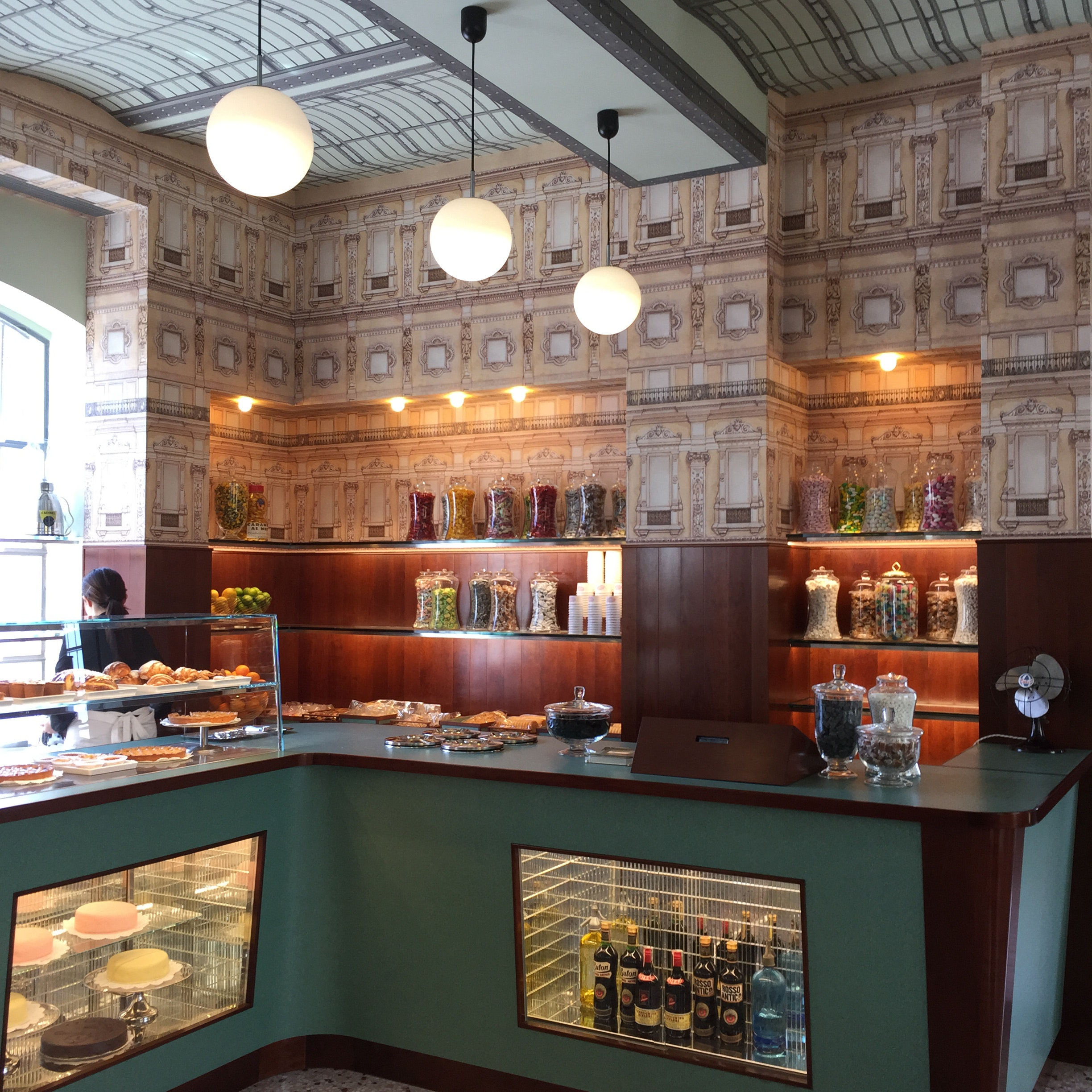 The 1950s-style Milanese café, designed to the last detail by Wes Anderson.