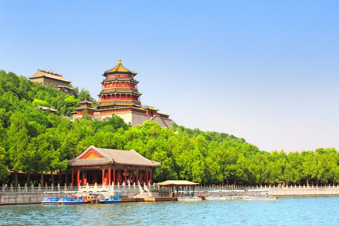 The Summer Palace is the largest royal park in Beijing at more than 700 acres.