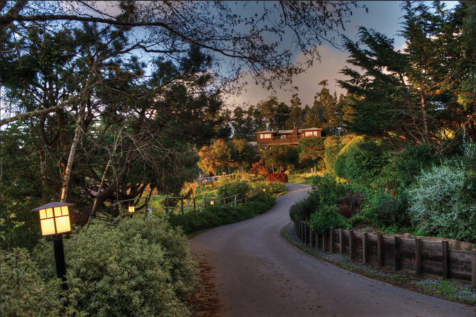 Veggie Hotels cofounder Thomas Klein says Stanford Inn with its abundant gardens is one of his favorite all-vegan properties in the United States.