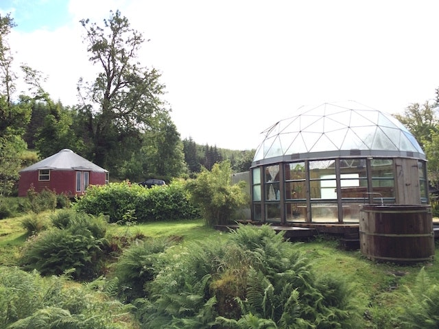 The dome at the EcoYoga Centre