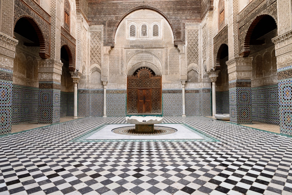Though the Al-Qarawiyyin Mosque is only open to Muslims, it's worth glimpsing the historic building's intricate design from the outside.