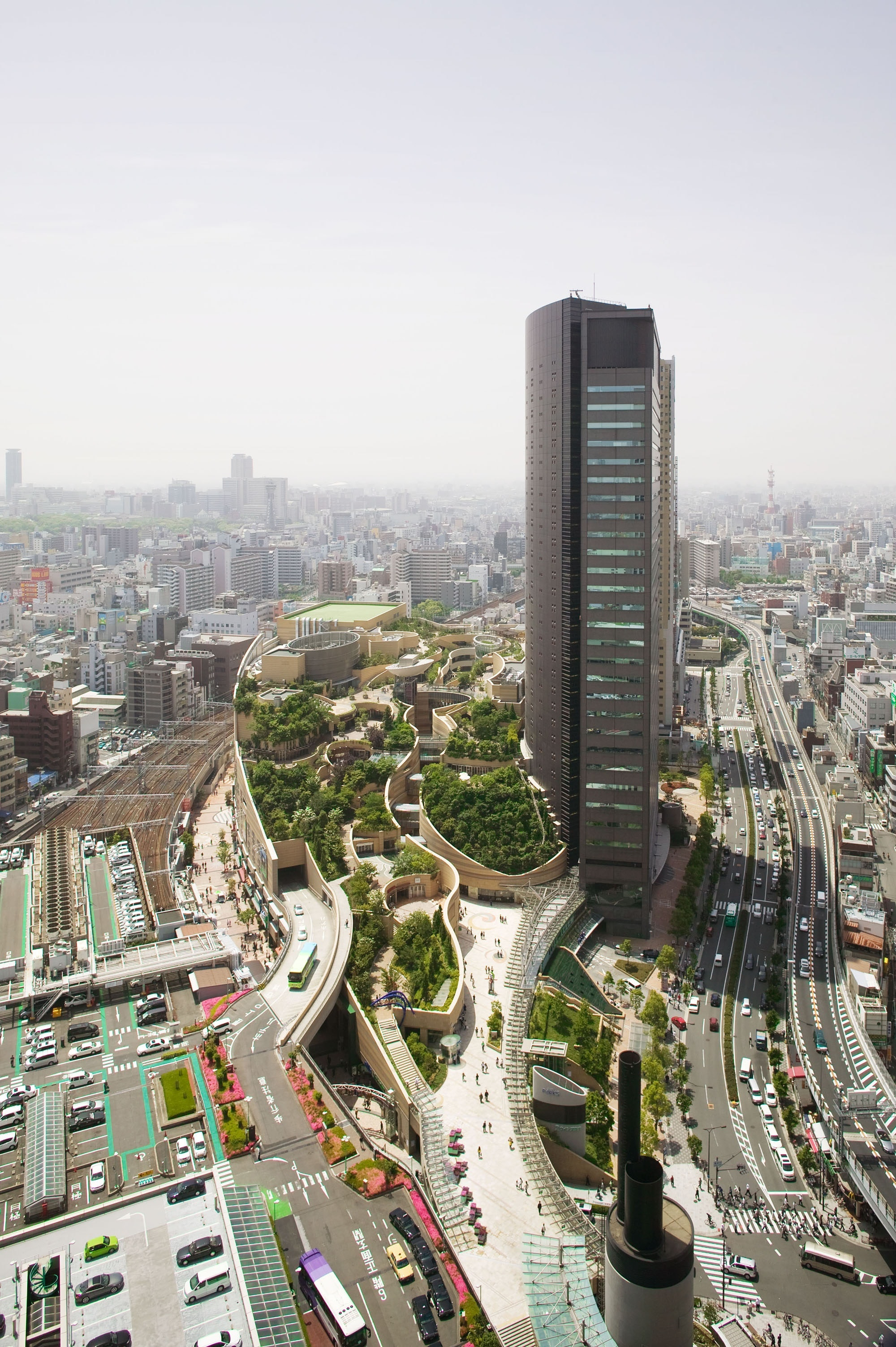 Find respite from Osaka's bustle in Namba Parks.