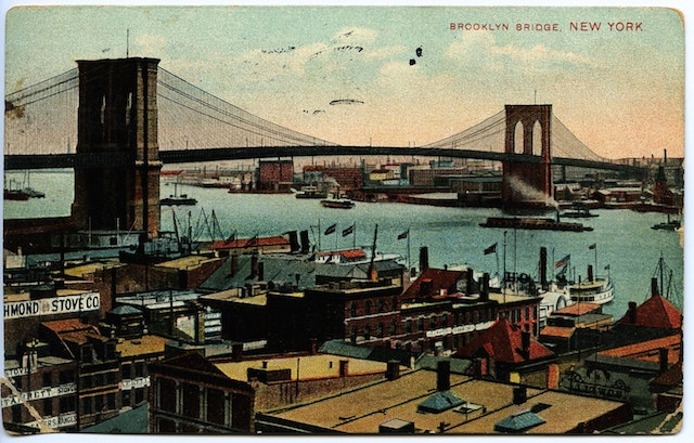 The Brooklyn Bridge was just as stately and iconic in 1909 as it is today