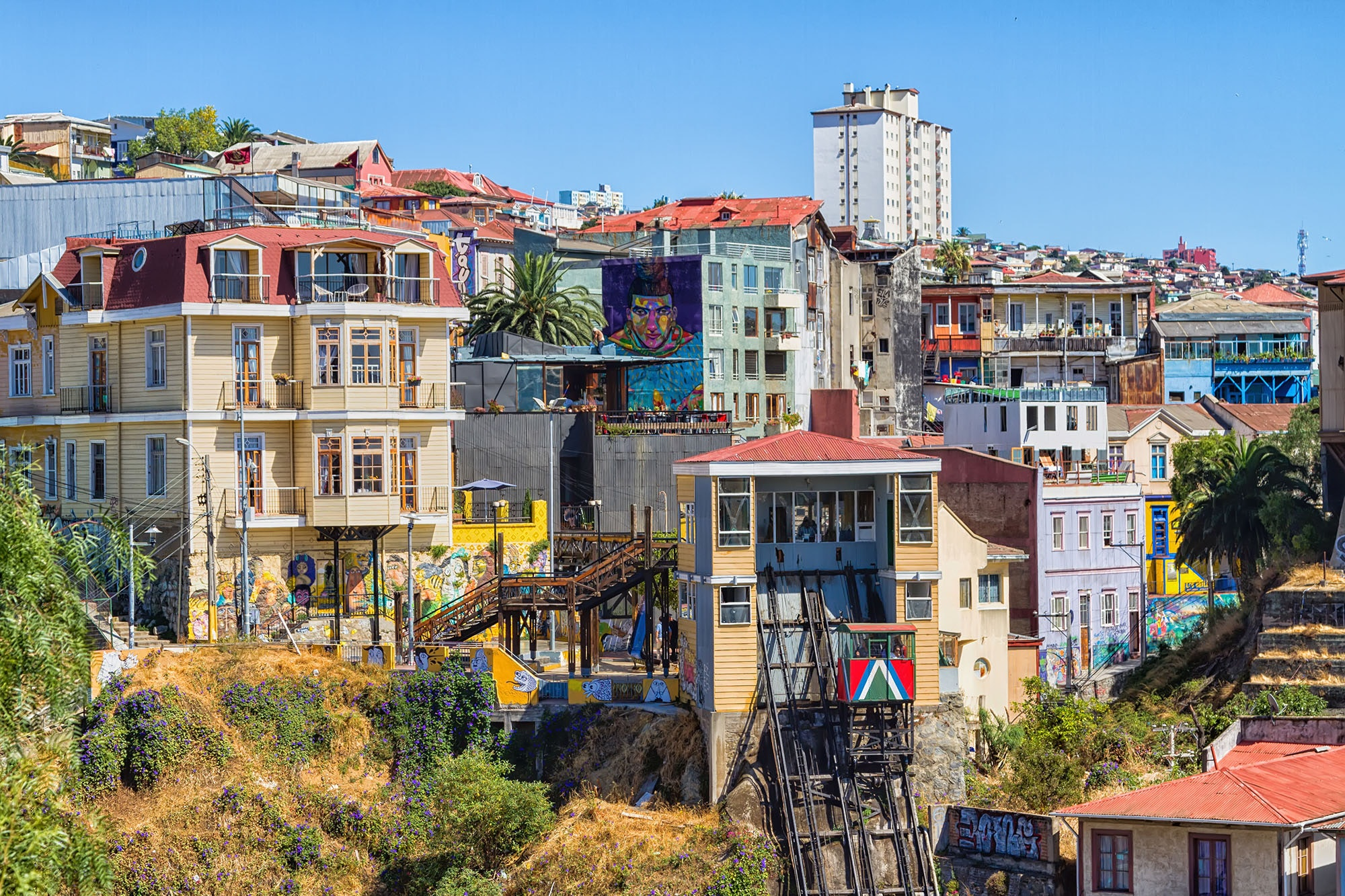 Valparaíso is the only city in Chile where street art is not only legal but also embraced.
