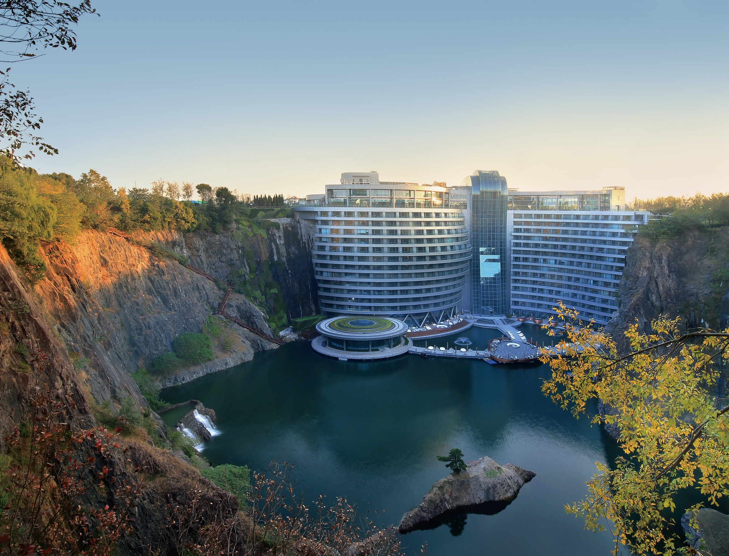 The InterContinental Shanghai Wonderland is located in a quarry outside Shanghai.