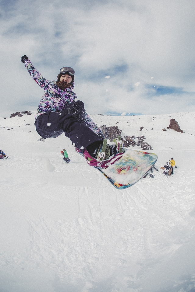 Kelly Clark goes airborne in Chile