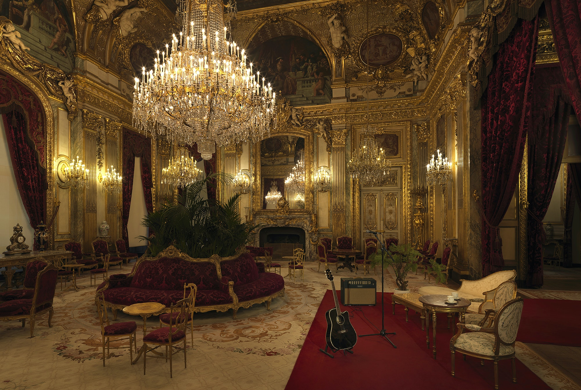 After dinner, you'll be treated to a concert in Napoleon III's chambers.