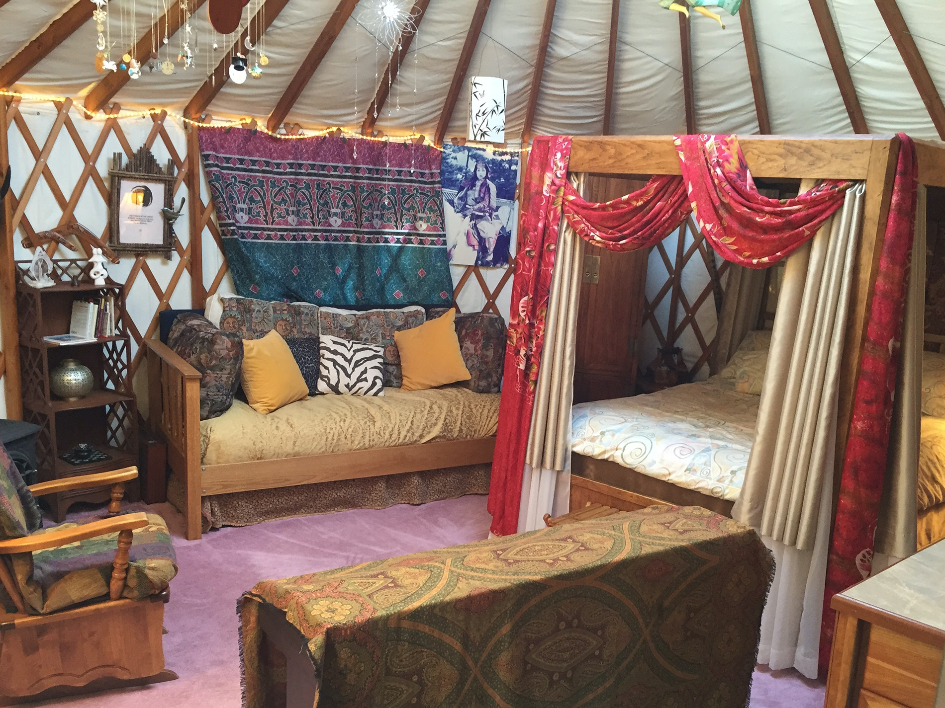 Pair urban adventure with the feel of a rural-flavored getaway, via this unusual yurt-based stay.