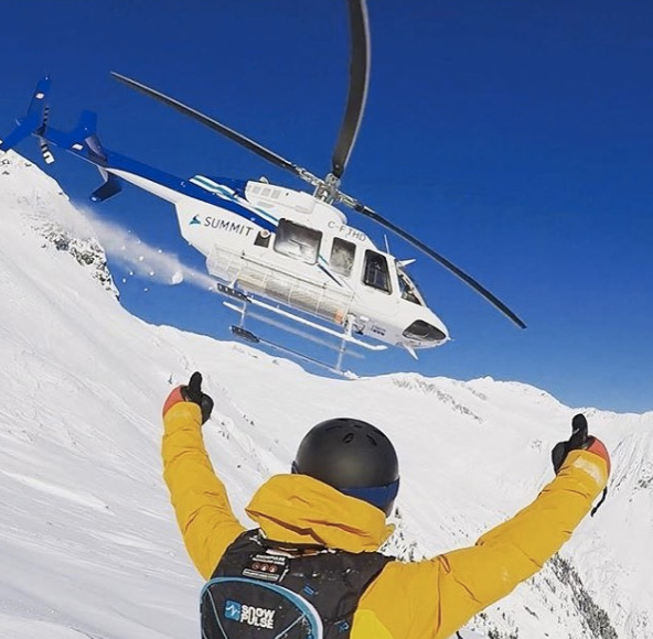 "Who can heli? ""An intermediate skier with the ability to ski powder is ready to go,"" says Heli's Brandon Darnton"
