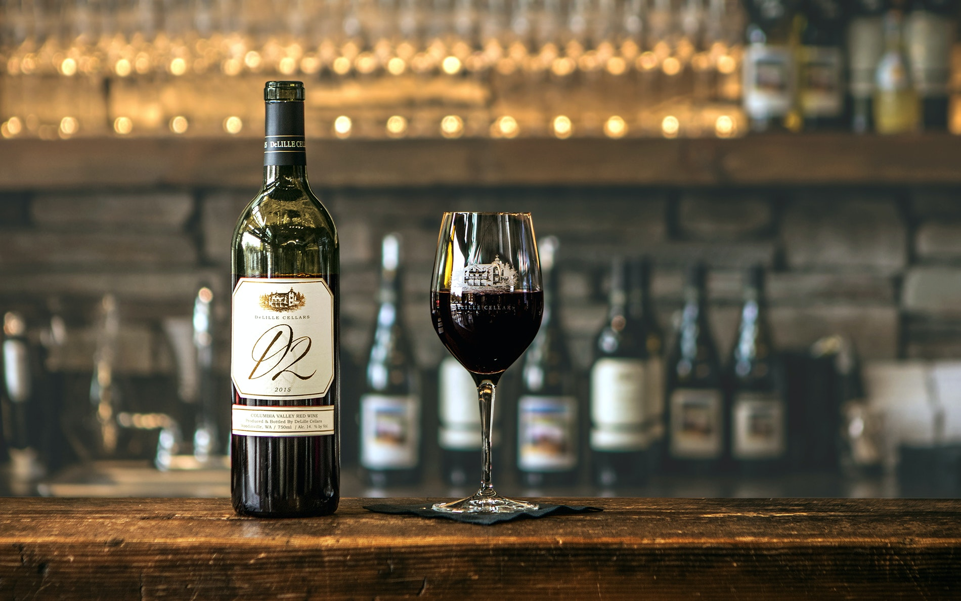 DeLille's red blend D2 offers polished, violet, and Chambord-like tones.