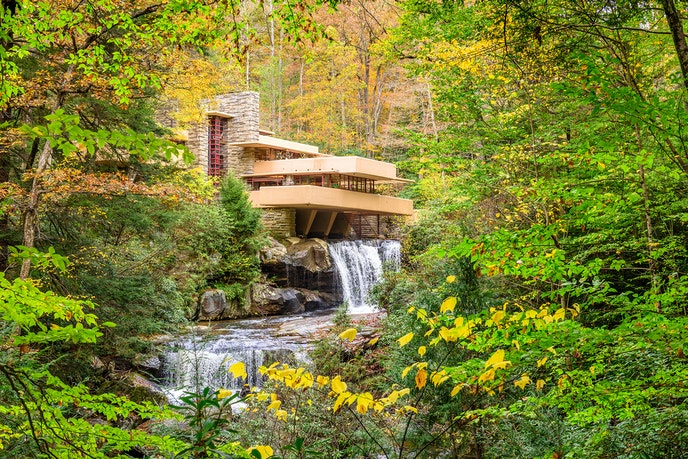 Pennsylvania's Fallingwater house is one of eight Frank Lloyd Wright buildings that were added as a group to the World Heritage List.