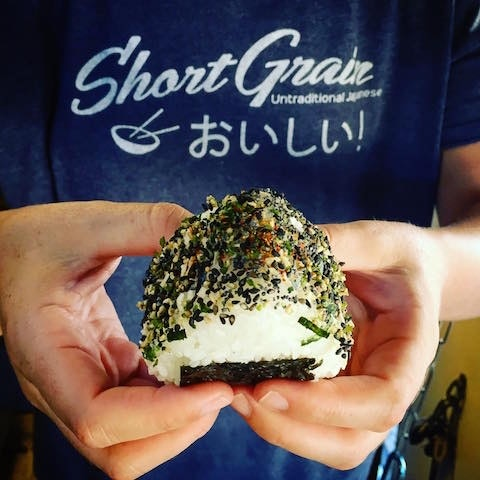 Onigiri are one of the many Japanese-style menu items at Short Grain.