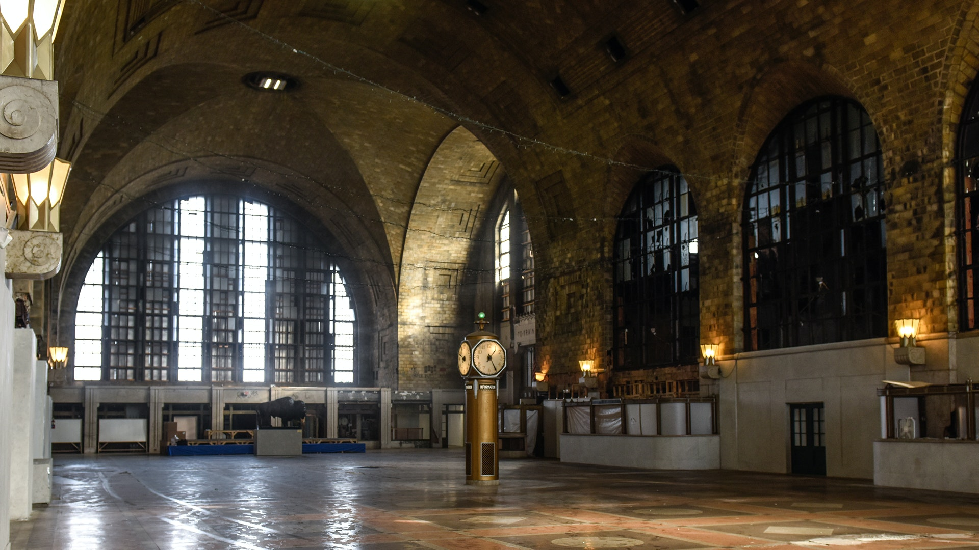 The impressive but dilapitated Central Terminal in Buffalo, New York, made the WMF's 2017 endangered-sites list.