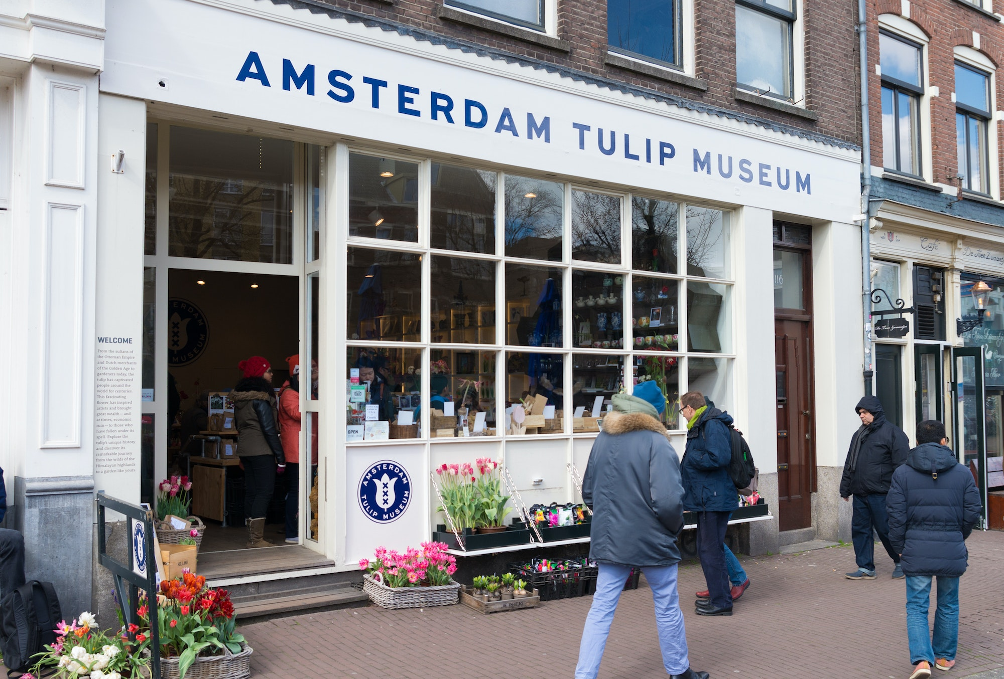 Exhibits at the Amsterdam Tulip Museum outline the history of the Dutch fascination with the tulip.