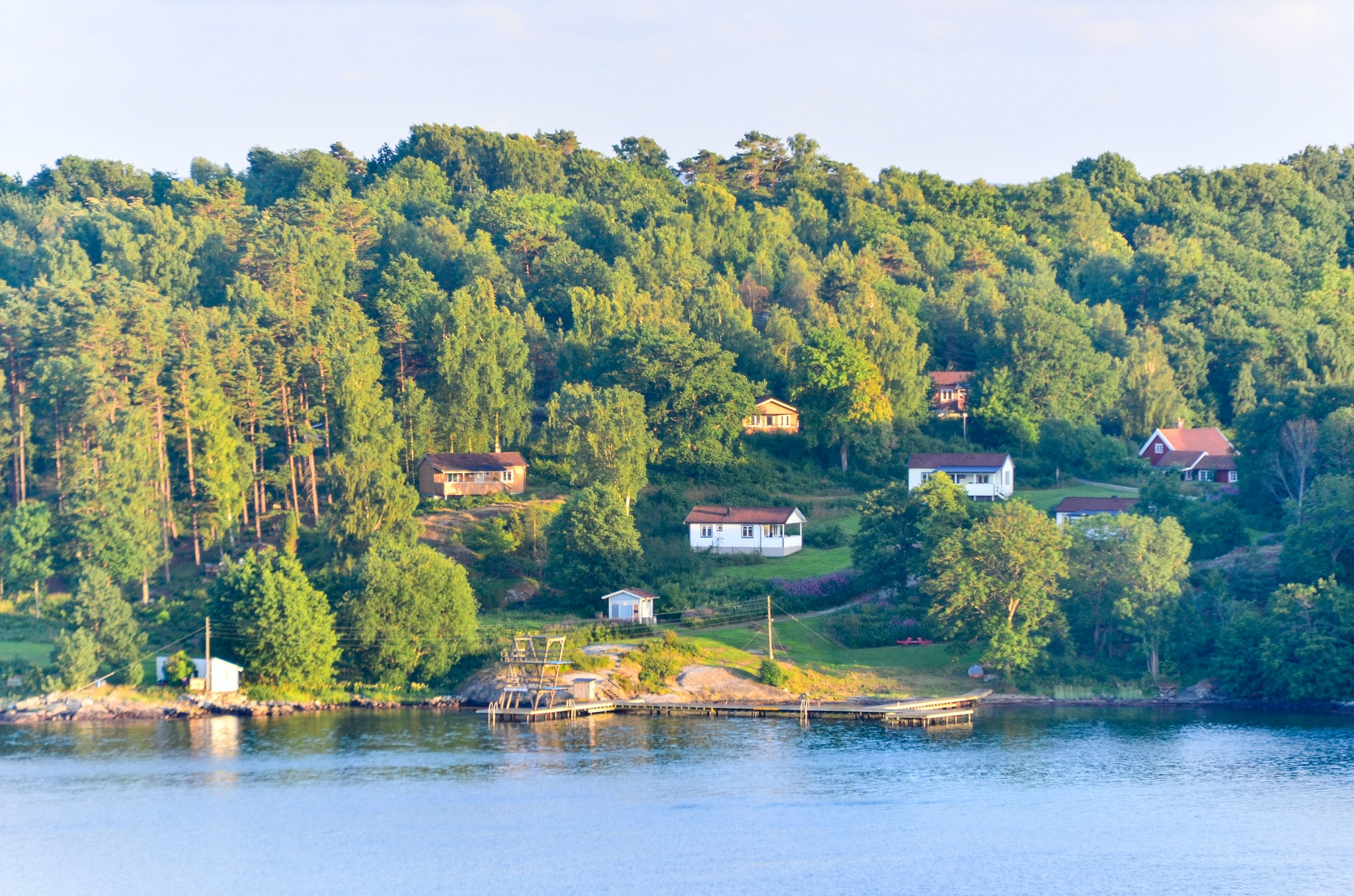 In summer, Tjörn's population nearly triples with vacationers.