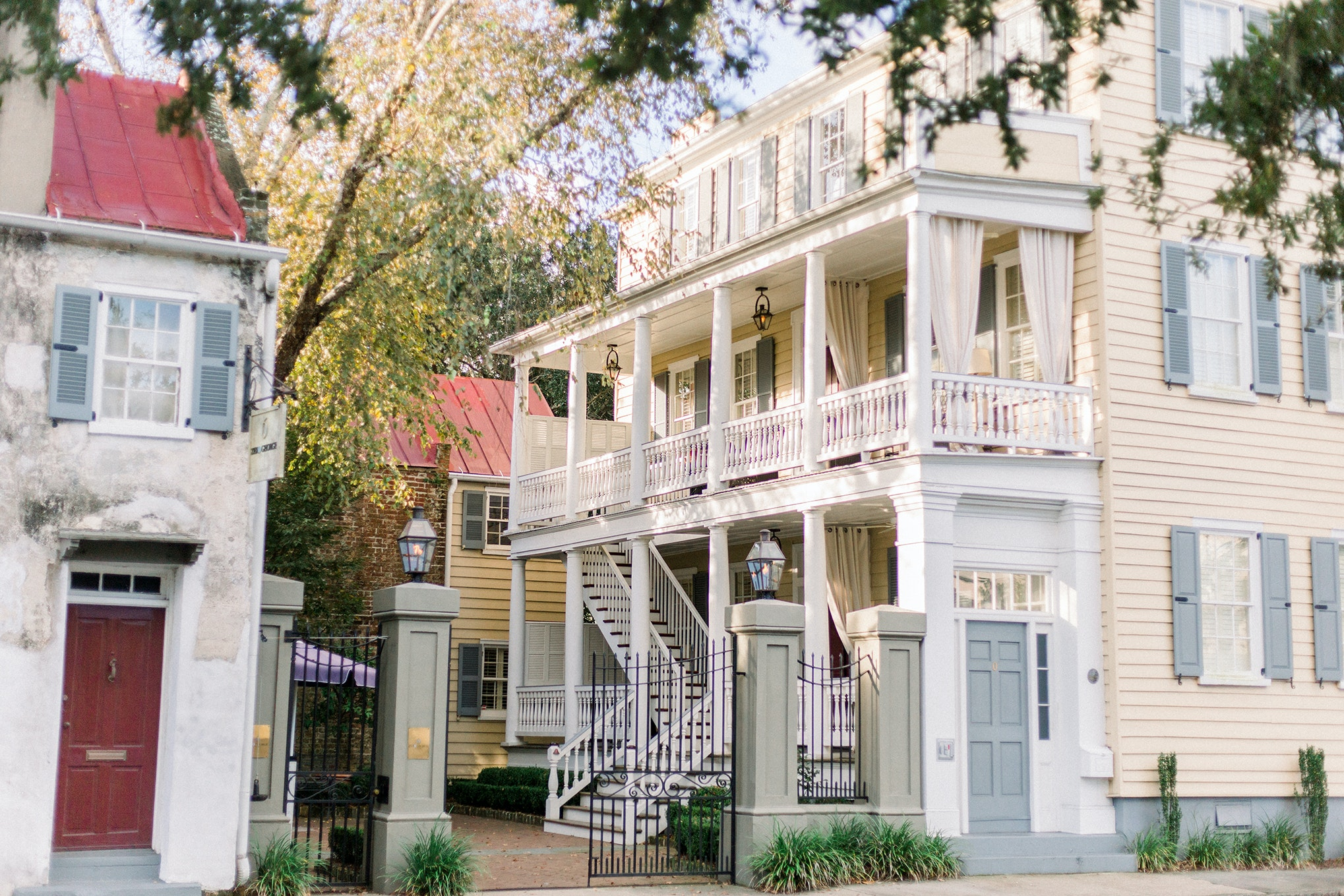 Zero George, a clutch of historic houses converted into a stylish inn, is on the quiet streets of Ansonborough.