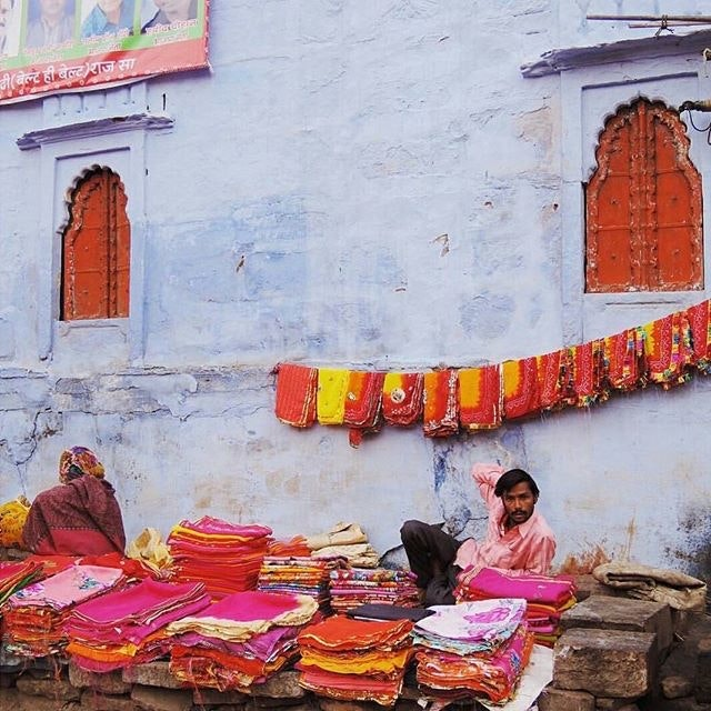 Not everything beautiful in the vibrant blue city of Jodhpur is blue!