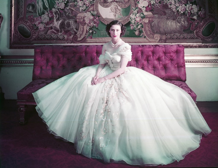 Just a little something that Christian Dior whipped up for Princess Margaret.