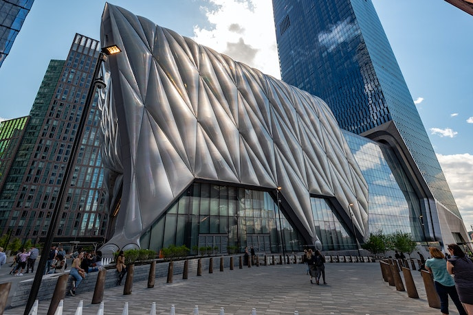 The cultural hub on Hudson Yards is The Shed performing arts center.