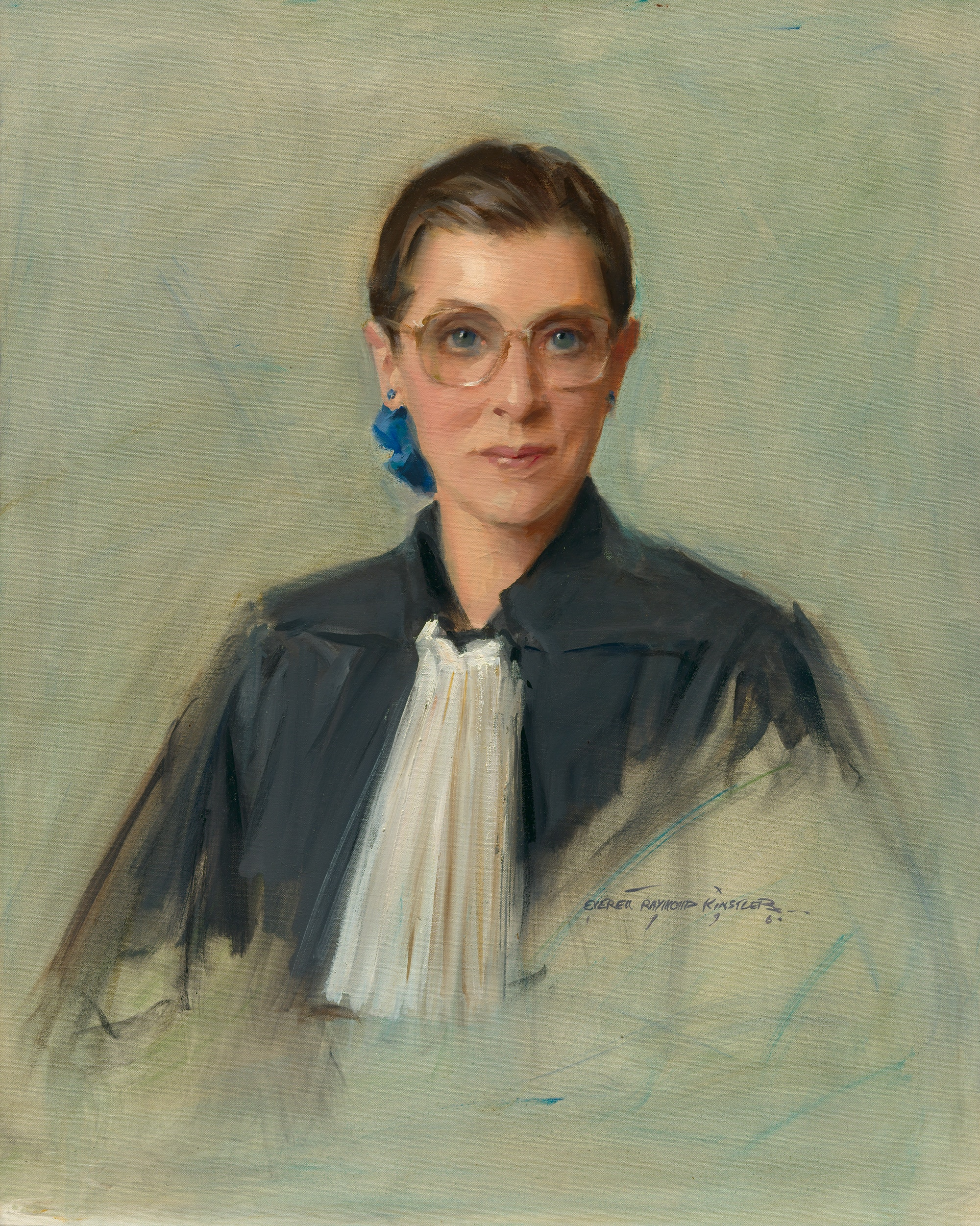 Ruth Bader Ginsburg, by Everett Raymond Kinstler, 1996. Oil on canvas. National Portrait Gallery, Smithsonian Institution.