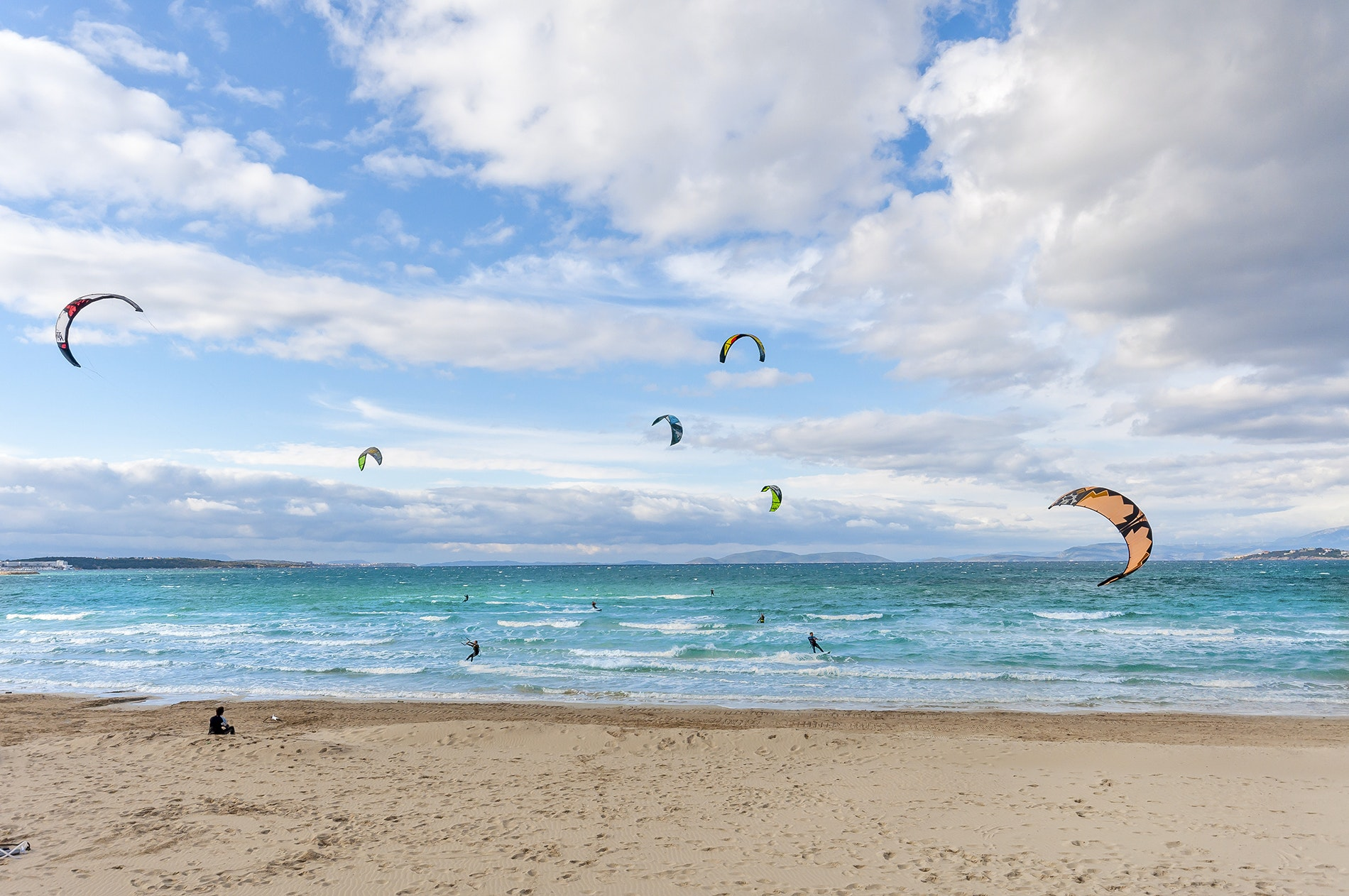 Turkey's mile-long Ilıca beach offers a less touristy alternative to busy Bodrum further south; it also hosts the world championships for windsurfing.