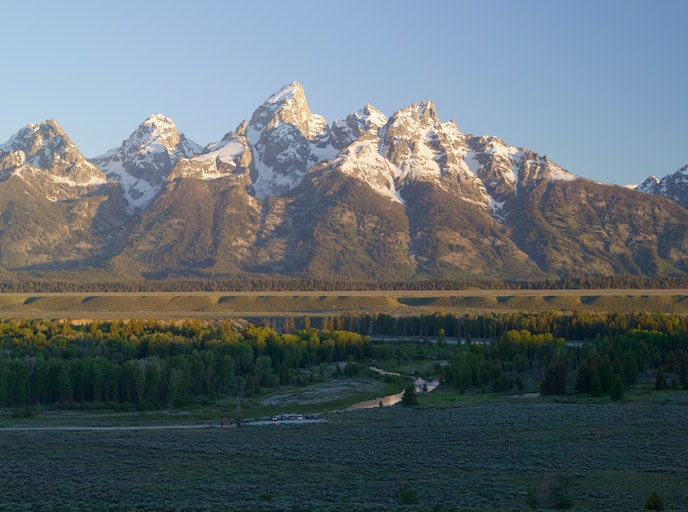 One staff member at Amangani has described the young Teton mountains as mischievious.