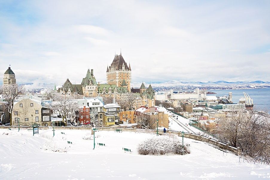 Québec City is a winter wonderland in itself, but visitors also have prime skiing and snowboarding opportunities just 30 minutes away.