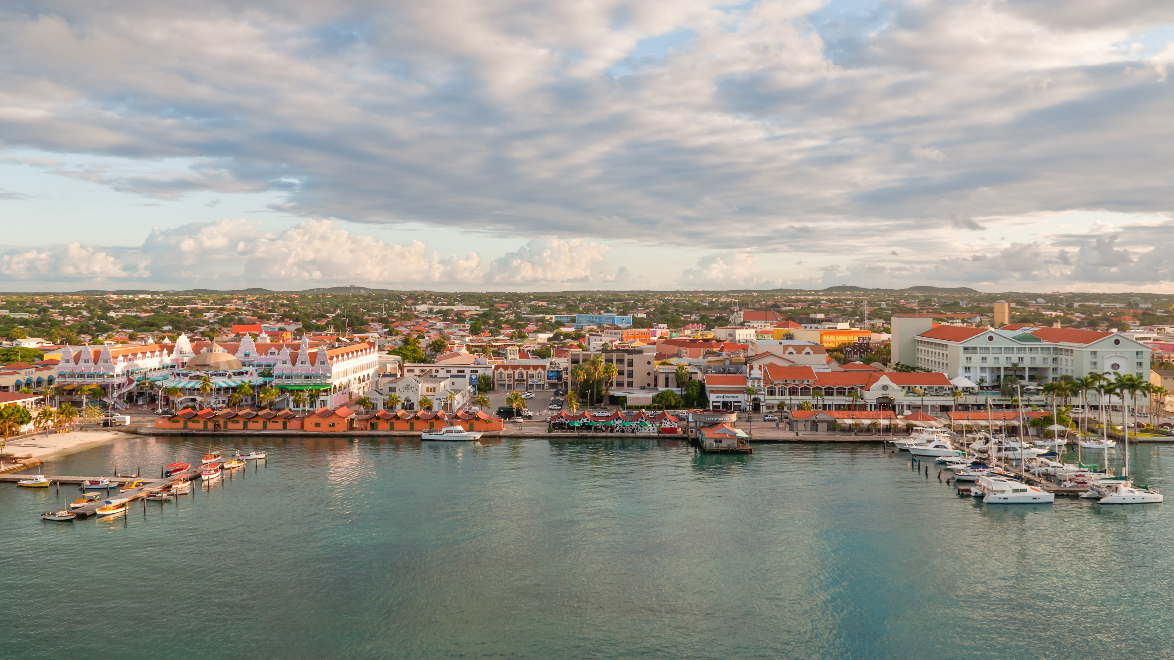The capital of Aruba is colorful in more ways than one.