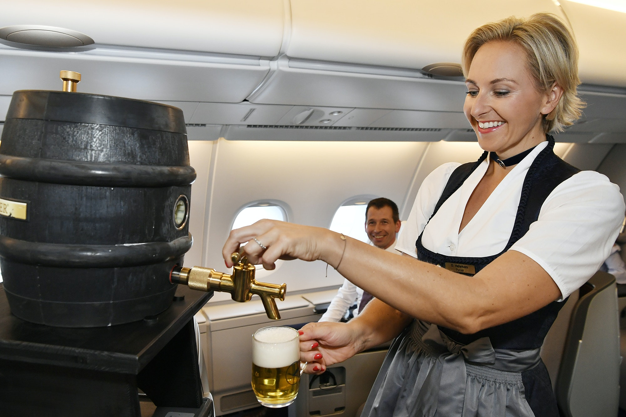 An example of what the kegs will look like on board