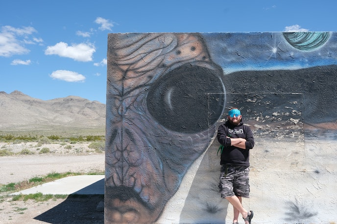 "Nate Arizona visited Area 51 as a child growing up in southwest Utah, but after a close encounter with ""four orange orbs"" near the military base in 2013, he became obsessed. ""I found my purpose,"" he says."