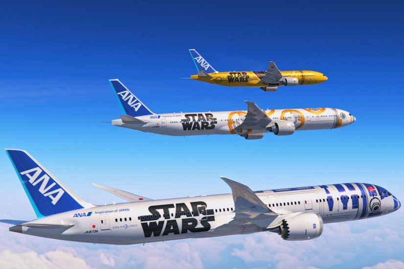 "ANA flies several ""Star Wars""-themed planes."