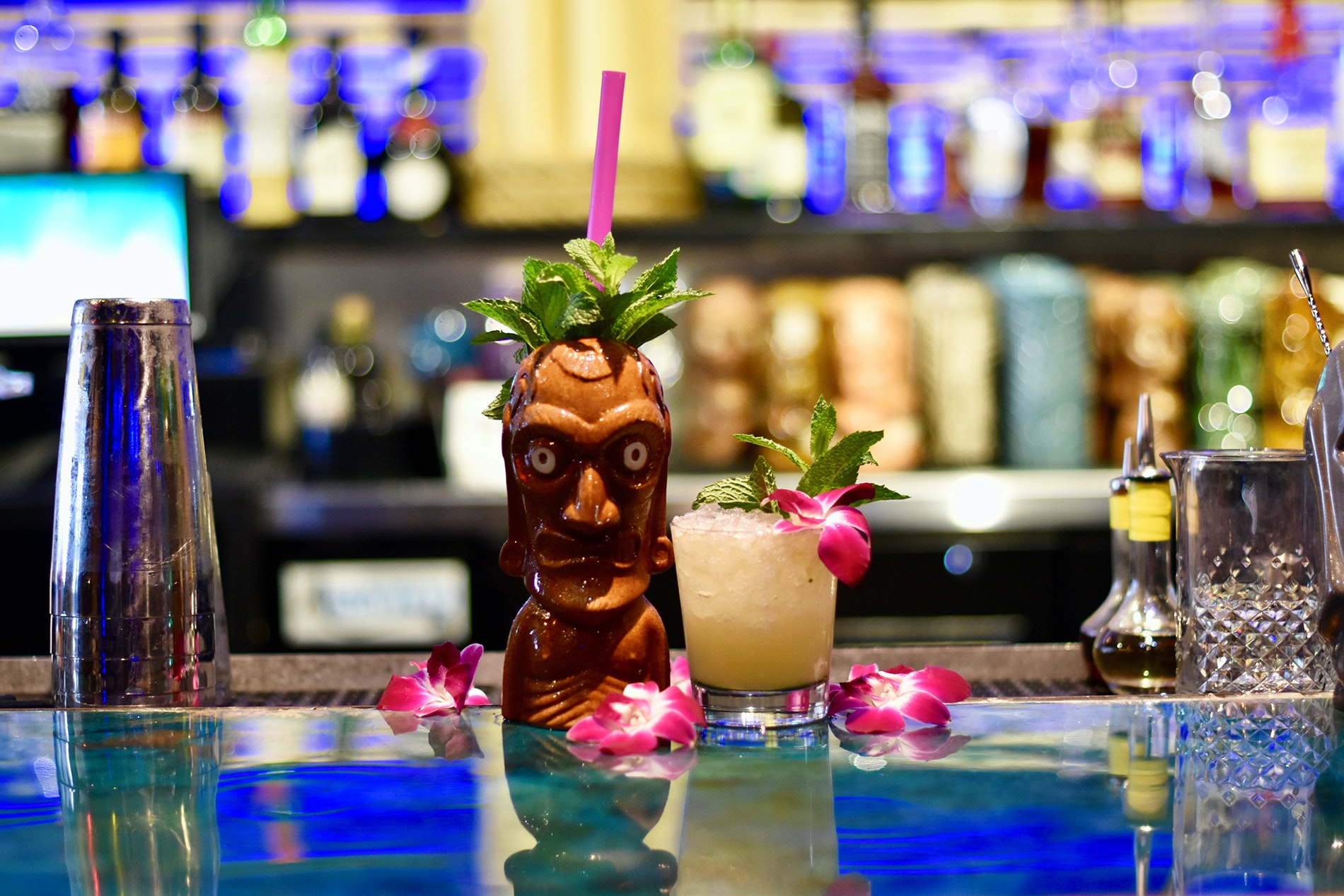 A drink at Kanaloa in Houston