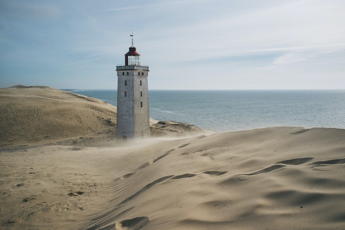 The Rubjerg Knude Lighthouse reopened to the public in 2016, but it's expected to fall into the sea as soon as 2020.