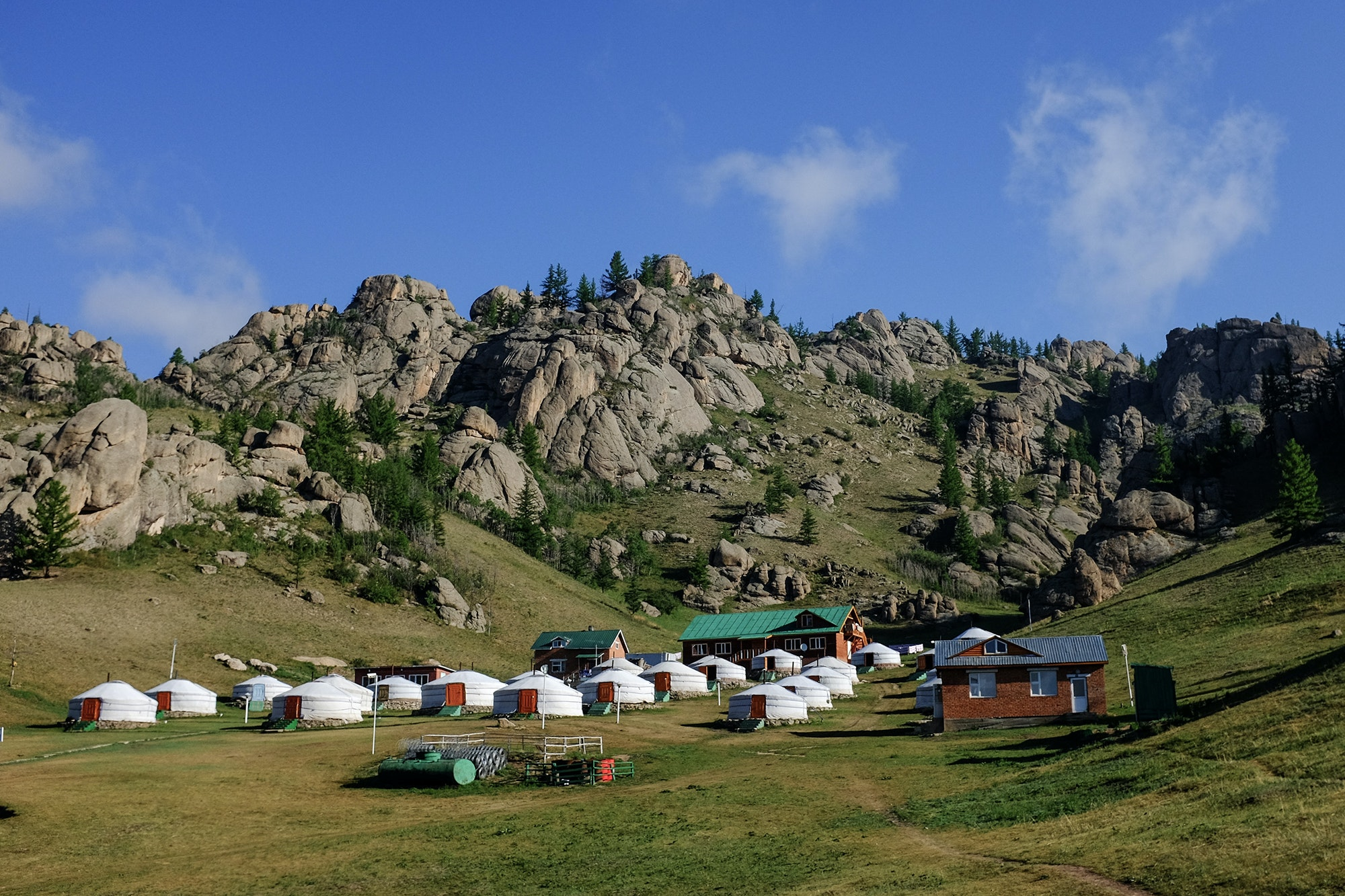Accomodations will vary from small hotels to camping in traditional gers.