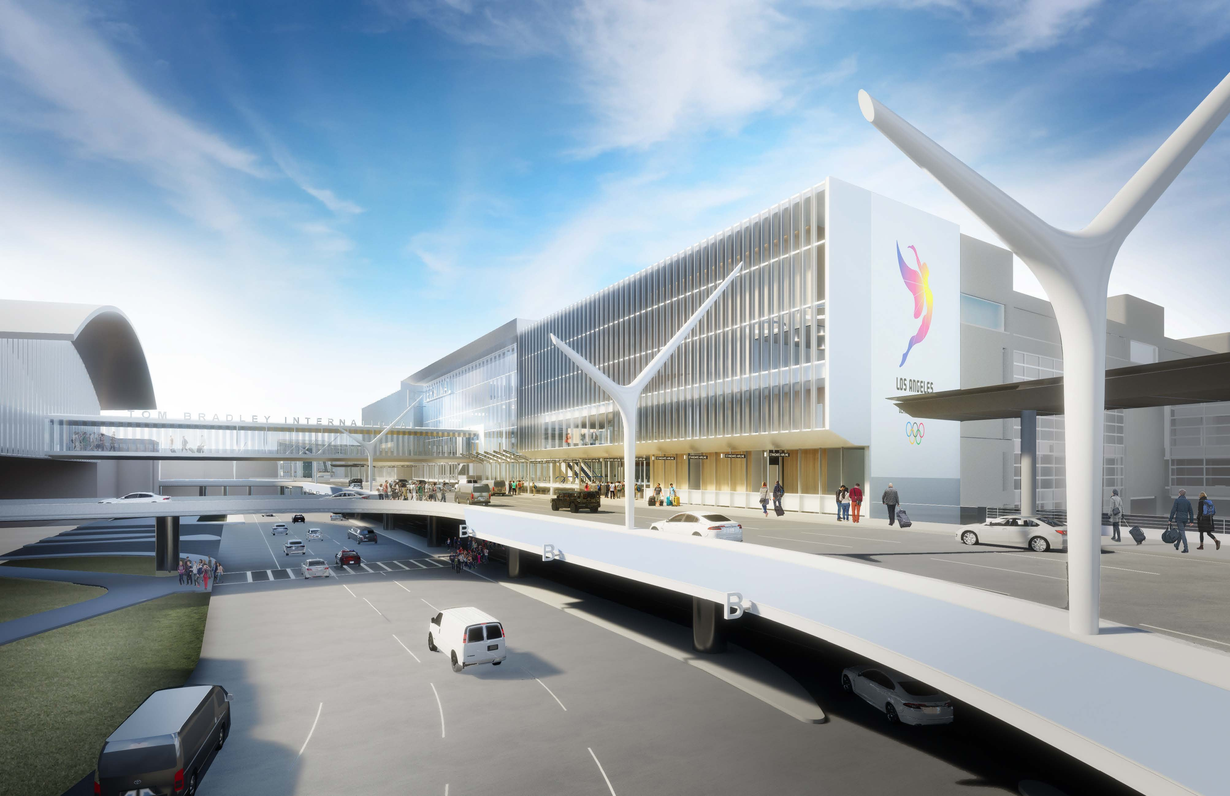 New terminal cores will connect the Automated People Mover to the airport terminals.