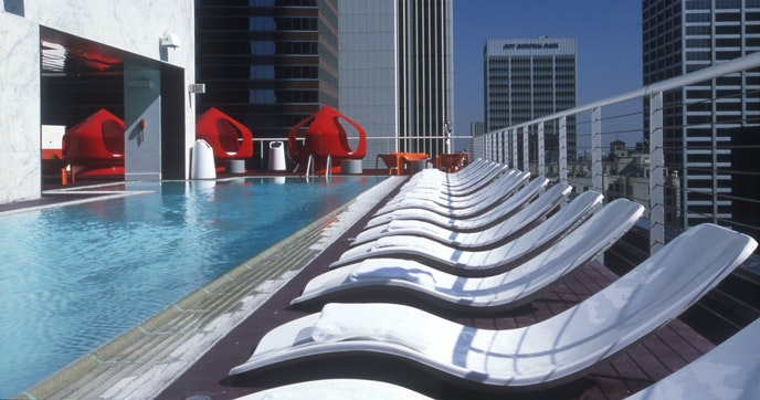 The pool at the Standard Downtown is open to non-guests too.