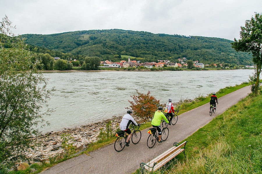 The Austrian stretch of the Donauradweg attracts 38,000 riders every year—and yet it rarely feels crowded.