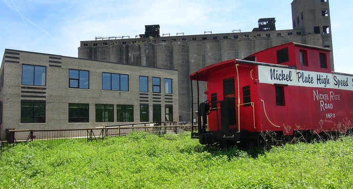The grain elevators at Silo City now serve as a cultural venue for concerts, readings, and more.