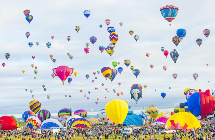 TheAnderson Abruzzo International Balloon Museum in Albuquerque details the area's history of ballooning.