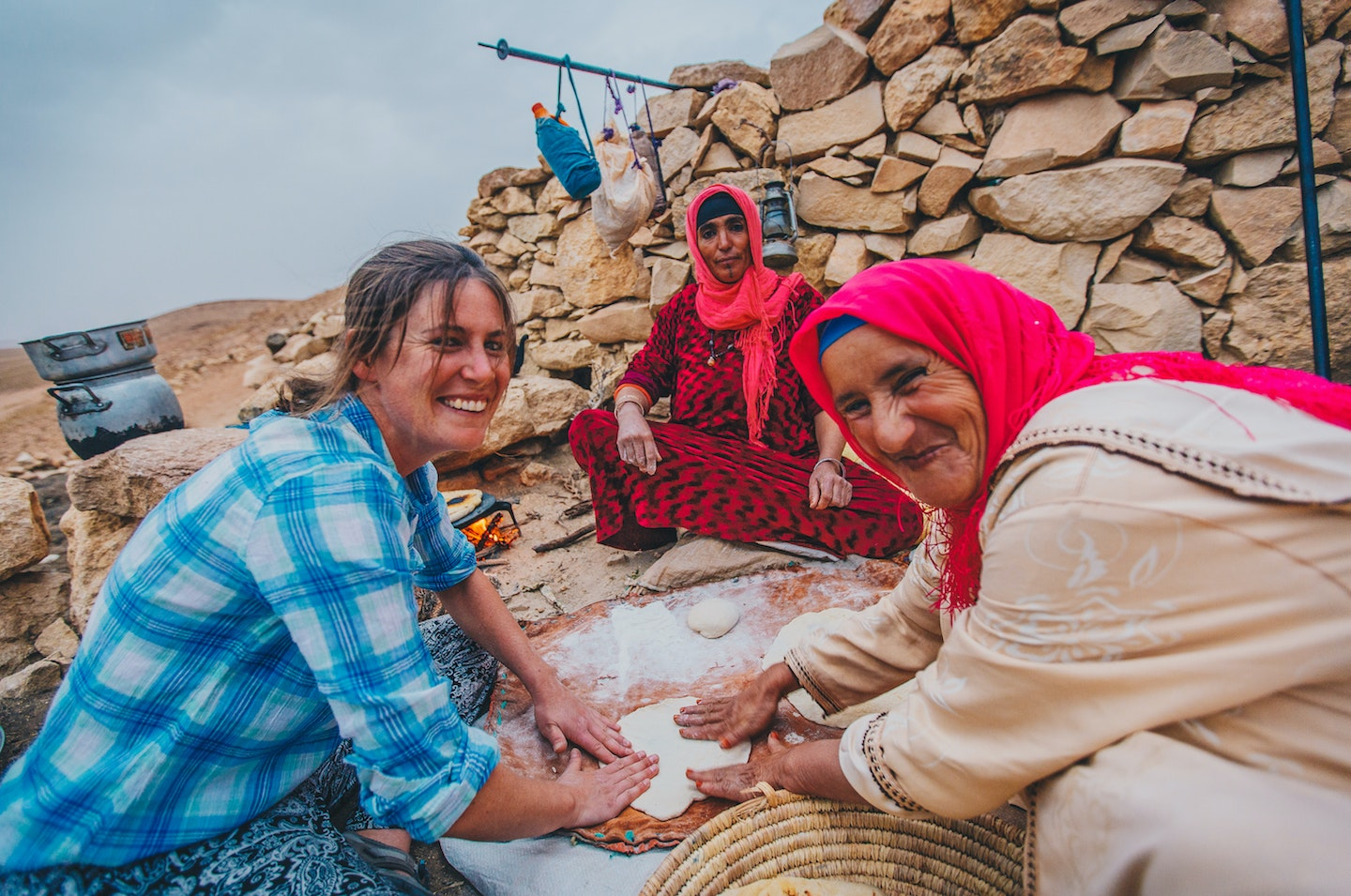 Book an itinerary that includes traveling with Berber nomads in Morocco.