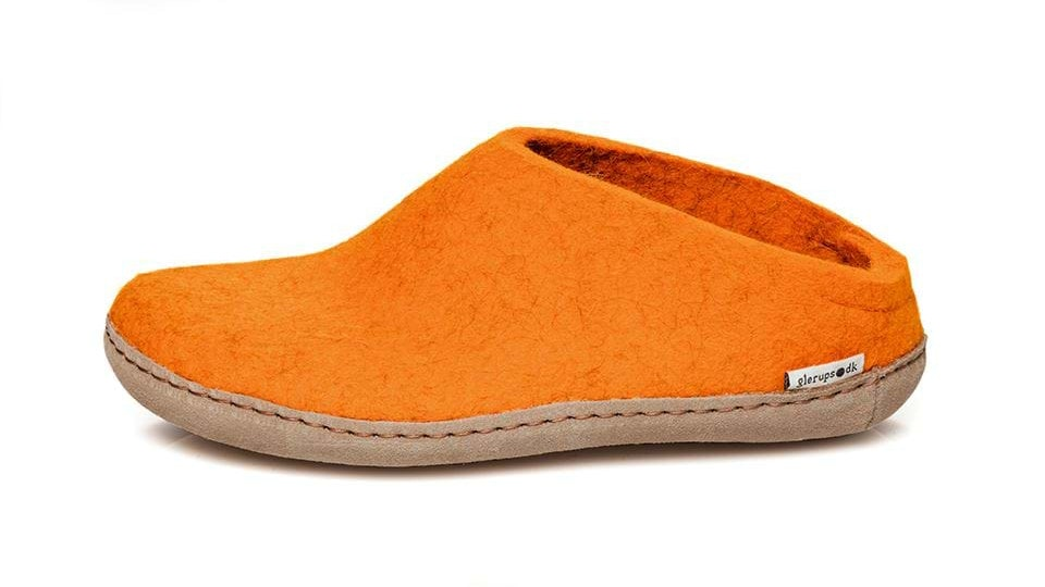 The Glerups open-heel wool shoe runs $95. It's available in eight colors, but come on, orange is the coolest.