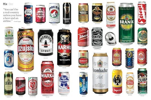 Around The World In Beer Cans Afar