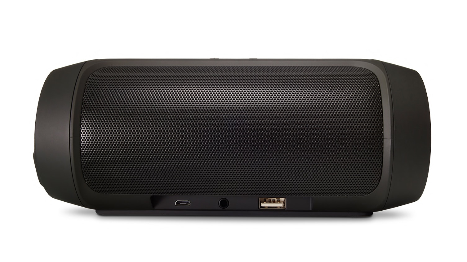Measuring just over 7 inches long, the JBL Charge 2+ is a wireless stereo speaker with a 12-hour battery life.