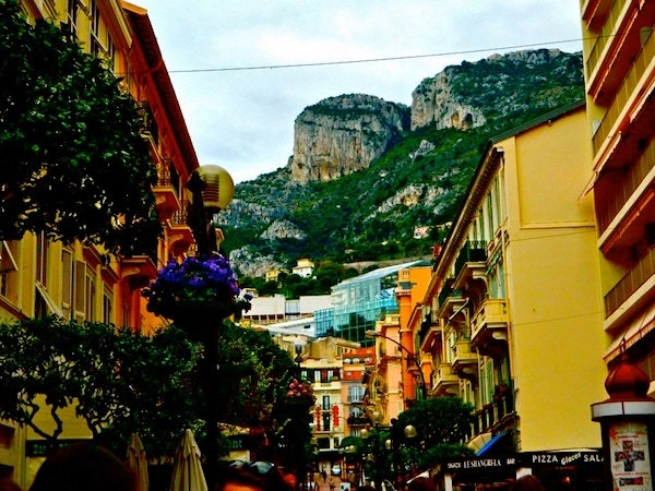 The streets of Monte Carlo, Monaco, where Geoffrey currently lives.