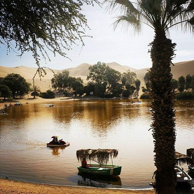 A surprising desert oasis in the middle of Peru.