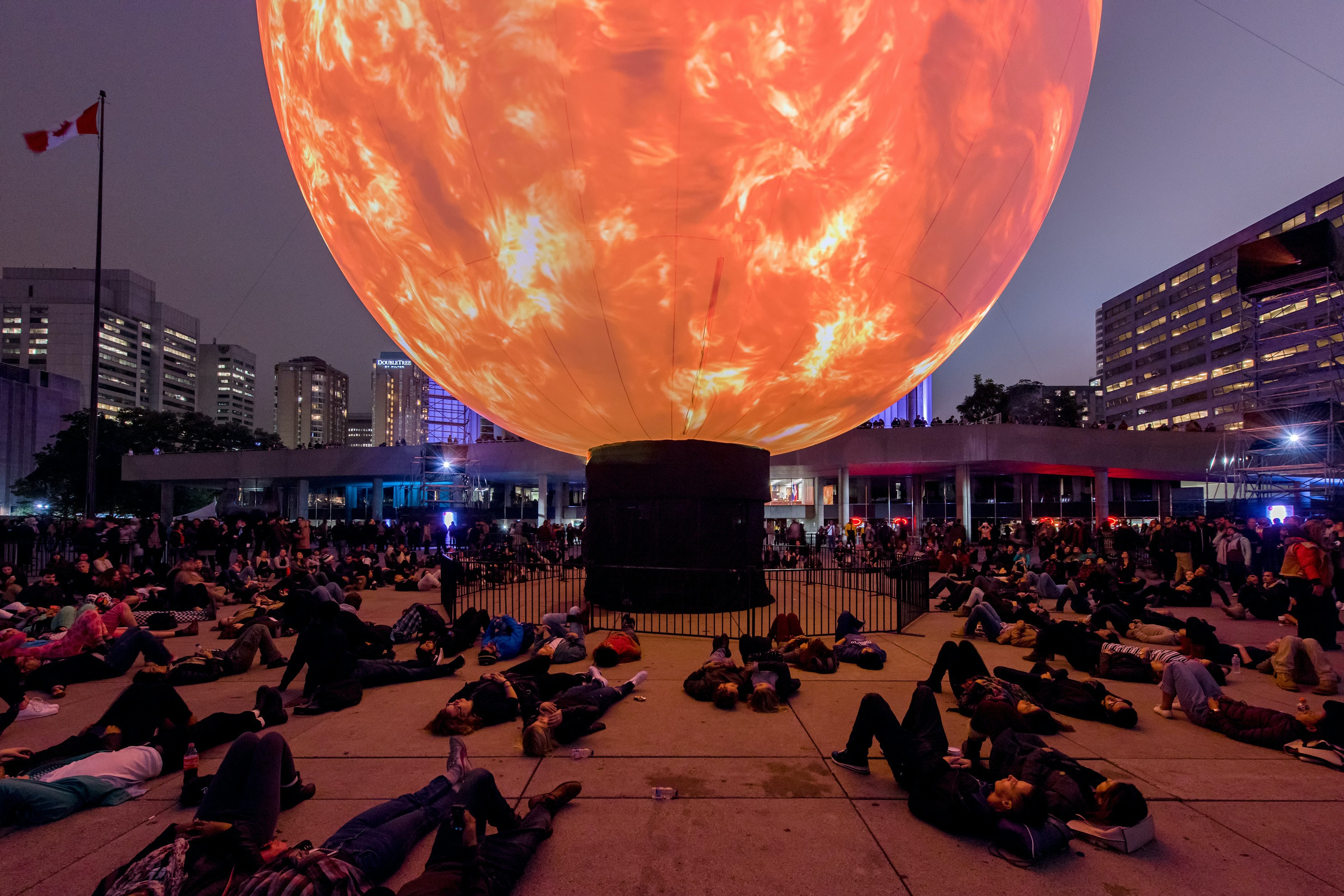"""Death of the Sun"" by Director X. Nuit Blanche Toronto 2016."