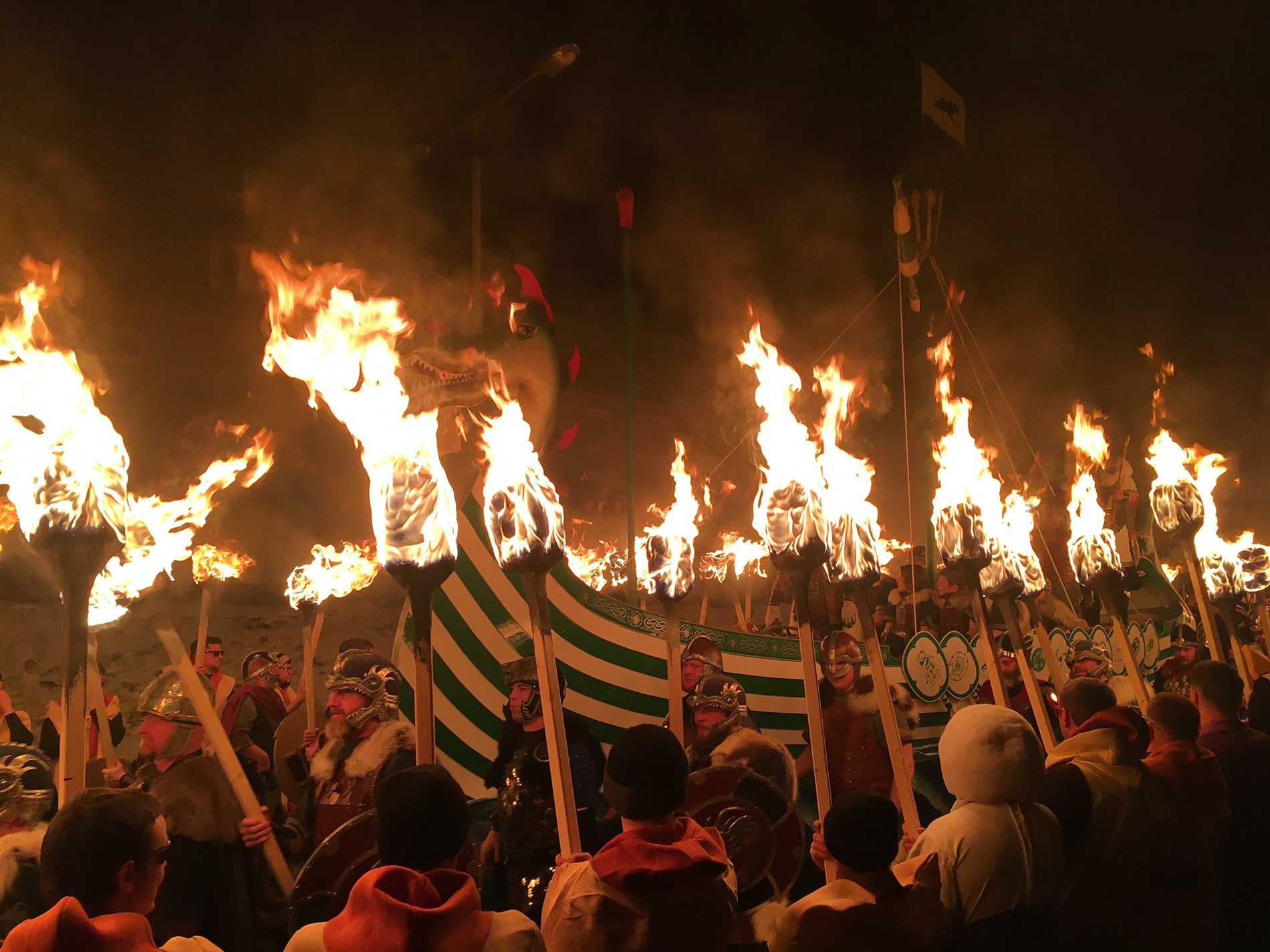 This year, Guizer Jarl John Nicolson led the fiery Up Helly Aa celebration.