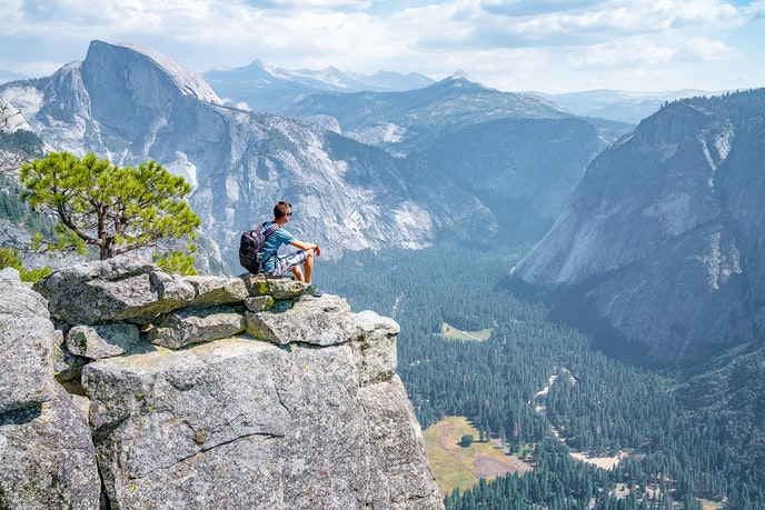 Over 4 million people visited Yosemite National Park last year.