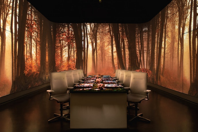 A meal at Ultraviolet isn't just theatrics: The restaurant has earned three Michelin stars.