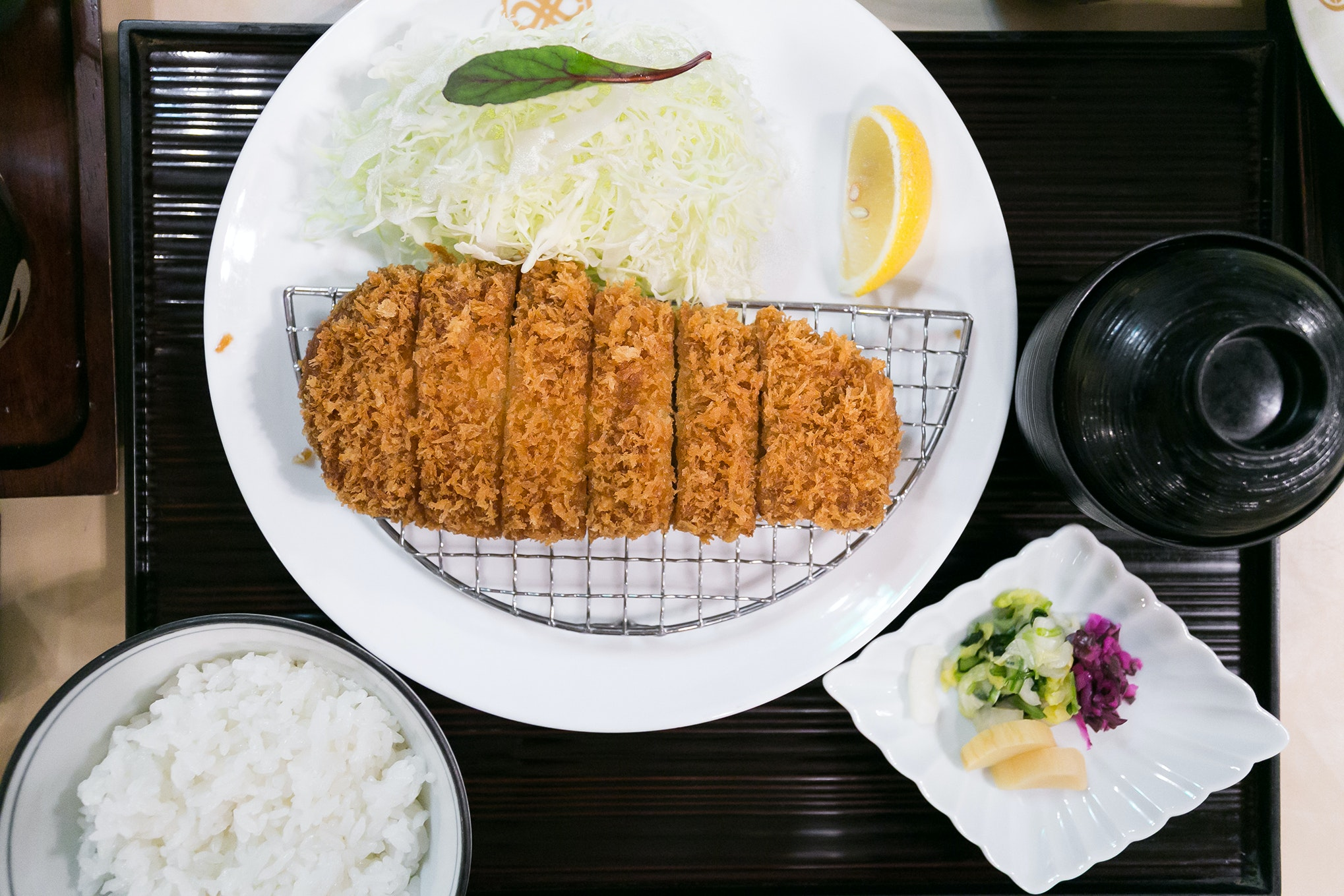 Tonkatsu is a pork dish that comes breaded and deep fried; sample one of its best iterations at Tokyo's Maisen restaurant.